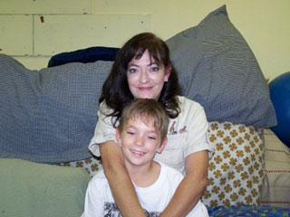 Michelle Morris, Administrator, and her son Michael
